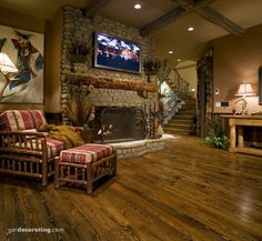 Fireplace/Mantels..!!! wood floor/rustic  mantle...etc
