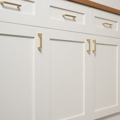 Greenwood Pull - Natural Brass | Drawer Pulls | Hardware