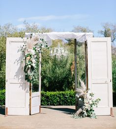 rustic door backdrop available from Embellish Vintage Rentals