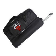 NBA Chicago Bulls Mojo 27 Rolling Drop Bottom Duffle Bag