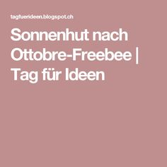 Sonnenhut nach Ottobre-Freebee | Tag für Ideen
