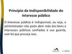 Resultado de imagem para indisponibilidade do interesse público