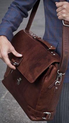 The Montreal Leather Tan Satchel Bag, This satchel, crafted from top grade buffalo leather, brings you the best of both the briefcase and shoulder bag. Carry using the elegant handle or go. Briefcase For Men, Leather Briefcase, Leather Satchel, Leather Backpack, Leather Handbags, Leather Wallet, Men Wallet, Leather Laptop Bag, Laptop Backpack