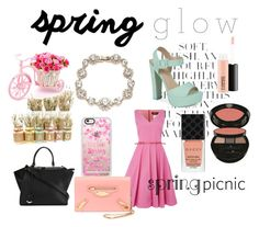"""""""#springglow"""" by caity3726 ❤ liked on Polyvore featuring beauty, Folio, MAC Cosmetics, Marchesa, Call it SPRING, Giorgio Armani, MaxMara, Gucci, Casetify and Fendi"""