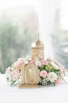 Gold glitter table numbers | Christina Forbes Photography