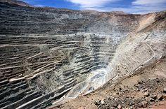 ✿⊱╮Mina de Cobre Chuquicamata. Mina a tajo abierto más grande del mundo.