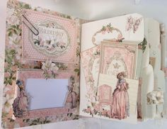 Graphic 45 Gilded Lily Mini Album Journal - Tutorial for the file folder page by Anne Rostad