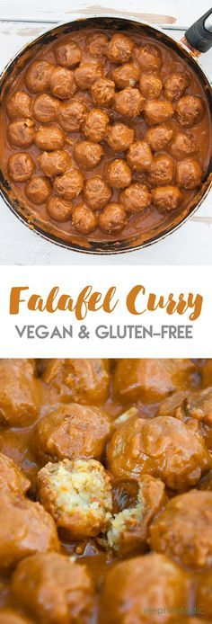Combining the best out of two cuisines to create a vegan Falafel Curry. It's dairy-free, gluten-free, creamy and delicious. Great with Naan and Basmati Rice