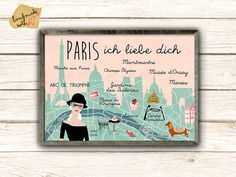 Paris ich liebe dich Poster