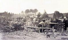 February 18 - Abandoned camp of 9th Army Corps near Falmouth, Va -- http://dotcw.com/abandoned-camp/