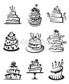 Conjunto de tortas — Ilustración de stock #11158710