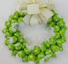 Chocolate Lover Truffle Candy Wreath Summer by CandyWreathsbyCarla