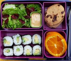 Laptop Lunches Bento-Ware  Brown rice vegetable sushi rolls