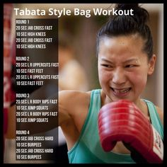 Tabata Style Bag Workout - if you don't have a bag at home shadow boxing with maximal effort is also just as effective Dynamic Boxing Fitness.: - Tap the pin if you love super heroes too! Cause guess what? you will LOVE these super hero fitness shirts! Boxing Workout With Bag, Boxing Workout Routine, Punching Bag Workout, Heavy Bag Workout, Mma Workout, Shadow Boxing Workout, Workout Plans, Boxing For Fitness, Workout Fitness