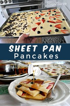 Try Sheet Pan Pancakes as a Genius Breakfast Hack She. Try Sheet Pan Pancakes as a Genius Breakfast Hack Sheet Pan Pancakes Genius Breakfast Recipe dinner recipes for family Comidas Fitness, Breakfast Dishes, Breakfast Pancakes, Gourmet Breakfast, Fluffy Pancakes, German Pancakes, Baked Pancakes, Pancakes In The Oven, Fun Breakfast Ideas