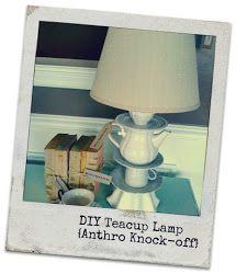 retropolitan: Better Late Than Never....Anthro Knock Off Lamp Tutorial