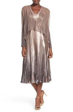 Komarov Embellished Lace Charmeuse Midi Dress Jacket Nordstrom Mother Of The Bridemother