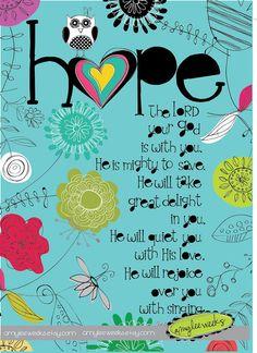 Christian Gift, Scripture art, Wise Reminders - Hope owl, Christian art print on Etsy, $10.00