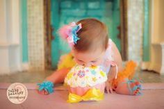 """The adorable """"smash cake"""" photo shoot by @JPP, cake by Emily's Cakes"""