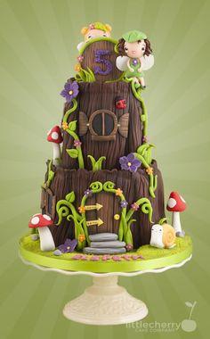 Pixie House Cake | Fairy House - Cake by Little Cherry - CakesDecor