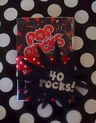 40th birthday ideas! love the pop rocks idea!