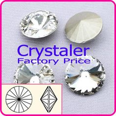 100pcs/lot Crytsal clear  COLOR 8MM 10MM 12MM  14mm 16mm 18mm 20mm  Chinese Top Quality  Round crystal crystal rivoli beads