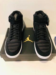 6a569a38a3824f Nike Air Jordan 1 Retro High Strap Black Pure Platinum Size 13 New in box