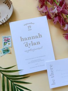 Letterpress Modern Wedding Invitations for a Minimalist San Diego brewery wedding