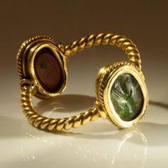 Roman Double Intaglio ring stones, ca 1st Century AD