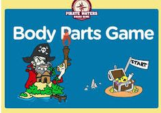 Body Parts ESL Interactive Pirate Board Educational Game