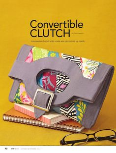 Sew Sweetness: Tutorial: Sew News Convertible Clutch