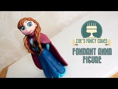 In this disney Frozen cake tutorial I show you how to make a fondant / modelling paste Anna cake topper to use on your frozen themes cakes. Modelling paste m. Anna Frozen Cake, Frozen Anna Doll, Frozen Disney Anna, Anna Cake, Frozen Cake Topper, Doll Cake Tutorial, Cake Topper Tutorial, Fondant Tutorial, Fondant Cake Toppers