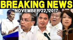 BREAKING NEWS TODAY NOVEMBER 22 2017  PRESIDENT DUTERTE l MAR ROXAS l JU...