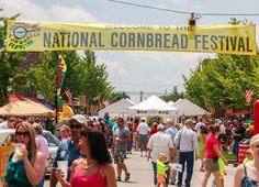 Once a year the best of what's cooking in cornbread happens at The National Cornbread Festival in South Pittsburg, TN.
