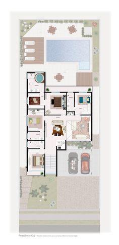 Planta Baixa pavimento superior  Koji - Trabalho desenvolvido para a empresa Melancia Estúdio Digital.