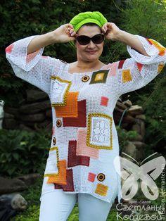 Brazilian Crochet And Handicraft Crochet Ripple, Freeform Crochet, Crochet Cardigan, Knit Or Crochet, Filet Crochet, Beautiful Crochet, Handmade Clothes, Crochet Designs, Crochet Clothes