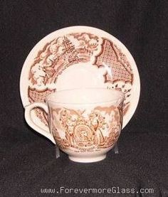 ALFRED MEAKIN Fair Winds CUP & SAUCER Set of 2