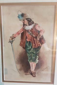 Antiques Atlas - Watercolour Of Cavalier By W Craig. Watercolour Paintings, Watercolor, Cavalier, Drama, Vibrant, Portraits, Victorian, Colours, Antiques