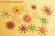 ストローでクリスマスを飾る♡ストローオーナメントを作ろう♪ Straw Crafts, Christmas Crafts, Xmas, Spirograph, Handmade Art, Snowflakes, Origami, Diy And Crafts, Greeting Cards