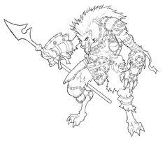 gnoll   Gnoll Warrior by Equussapiens