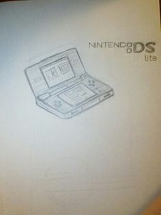 Didn't know what I wanted to draw, so I just decided to draw a DS lite XD I have gotten used to drawing the DS logo from memory. I will probably draw a better one later - Katie M