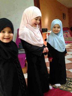 Cute muslim girls / kids in Hijab! Islam is beautiful.