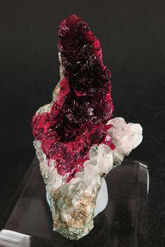 Roselite-beta with Calcite #Mineral Specimen   Arhbar Mine, Bou Azzer area, Tazenakht, Ouarzazate Morocco