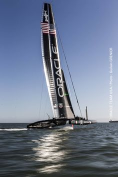 ORACLE TEAM USA '17' was flying during training on the San Francisco Bay. Cup year!