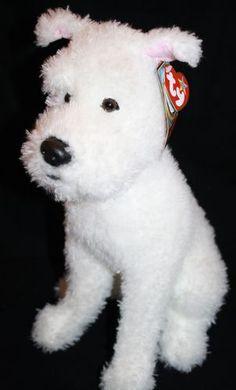 """TY Beanie Buddy Snowy white plush dog The Adventures of Tin Tin 13"""" 2011 stuffed"""