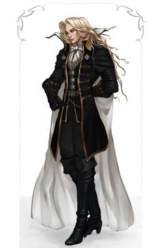 This guy by jumemepi on DeviantArt Castlevania Dracula, Alucard Castlevania, Castlevania Netflix, Fantasy Character Design, Character Inspiration, Character Art, Vampire Hunter D, Vampire Art, Dark Fantasy Art