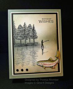 Peaceful Fishing Teapot Card