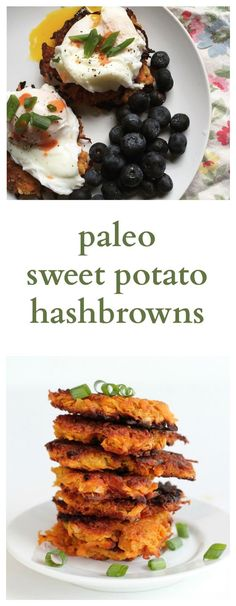 """Paleo Sweet Potato Hash Browns. These are to die for! Tried and tested by many and said to be """"the best paleo hash brown recipe""""."""