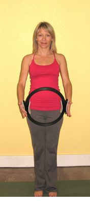 Upper Body Toning Exercises with the Pilates Ring: Begin With Good Posture, Shoulders Stable