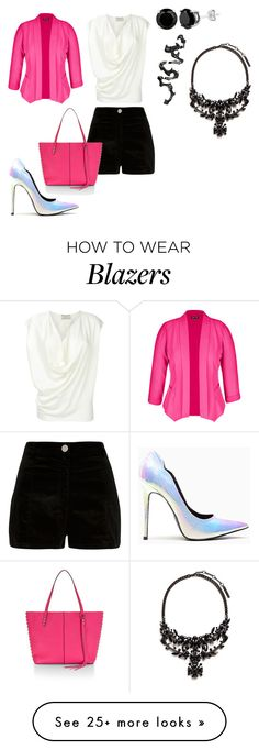"""""""Girl in pink"""" by elisa-itgirl on Polyvore featuring River Island, Rebecca Minkoff, City Chic and Givenchy"""